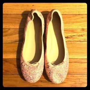 J.Crew Ballet Flats in Glitter